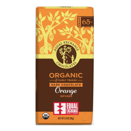 Organic Dark Chocolate Orange (65% Cacao) 80g Bar