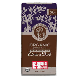 Organic Extreme Dark Chocolate (88% Cacao) 80g Bar
