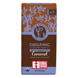 Organic Milk Chocolate Caramel Crunch with Sea Salt (43% Cacao) 80g Bar