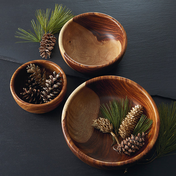 Shesham Wood Hand-Carved Bowl - lifestyle
