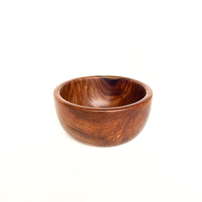 Shesham Wood Hand-Carved Bowl - Small