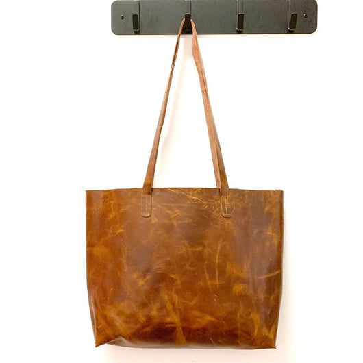 Unstructured Leather Tote Bag