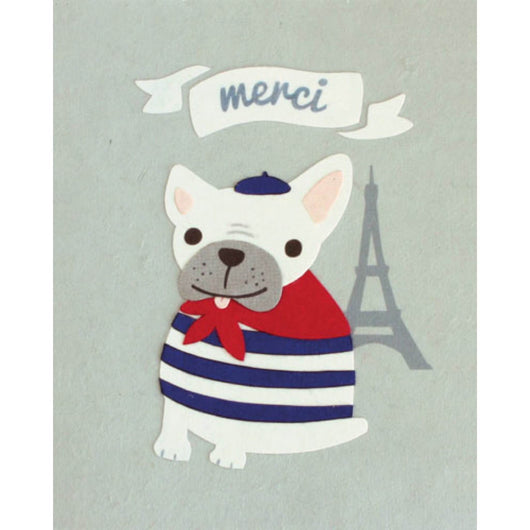 Merci Bulldog Card by Good Paper