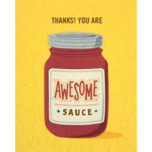 Awesome Sauce Thank You Card by Good Paper