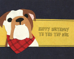 Top Dog Birthday Card