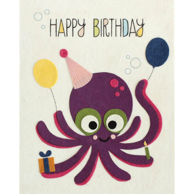 Octo Birthday Handmade Card by Good Paper