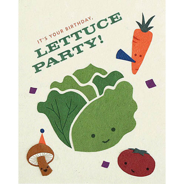 Lettuce Party Birthday Card by Good Paper