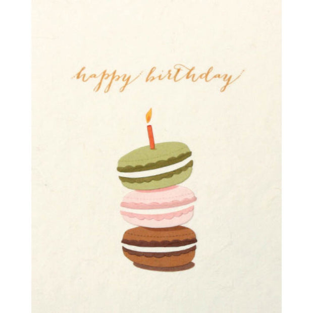 Macaron Birthday Card by Good Paper