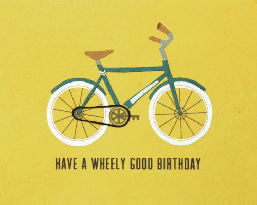Wheely Good Birthday Card by Good Paper