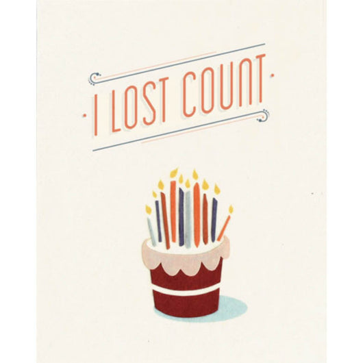 Lost Count Birthday Card by Good Paper