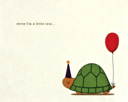 Turtle Belated Birthday Card Zee Bee Market Llc