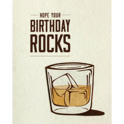 Birthday Rocks Card by Good Paper
