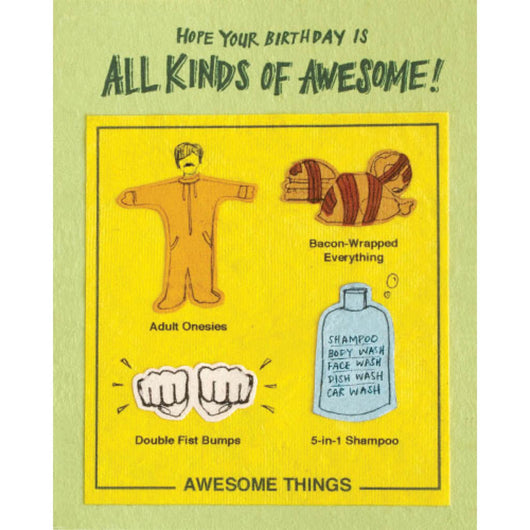 All Kinds Awesome Birthday Card by Good Paper