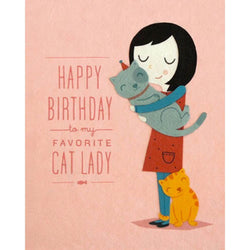 Cat Lady Birthday Card by Good Paper