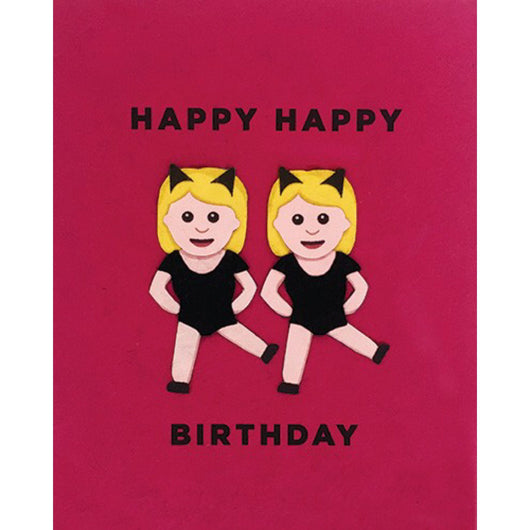 Emoji Girls Birthday Card by Good Paper