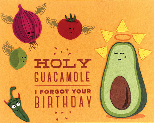 Holy Guacamole Birthday Card by Good Paper