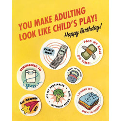 Adulting Birthday Card by Good Paper