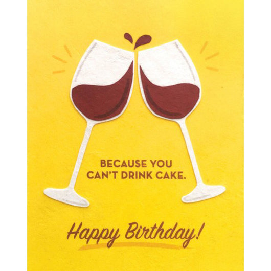Wine Birthday Card by Good Paper