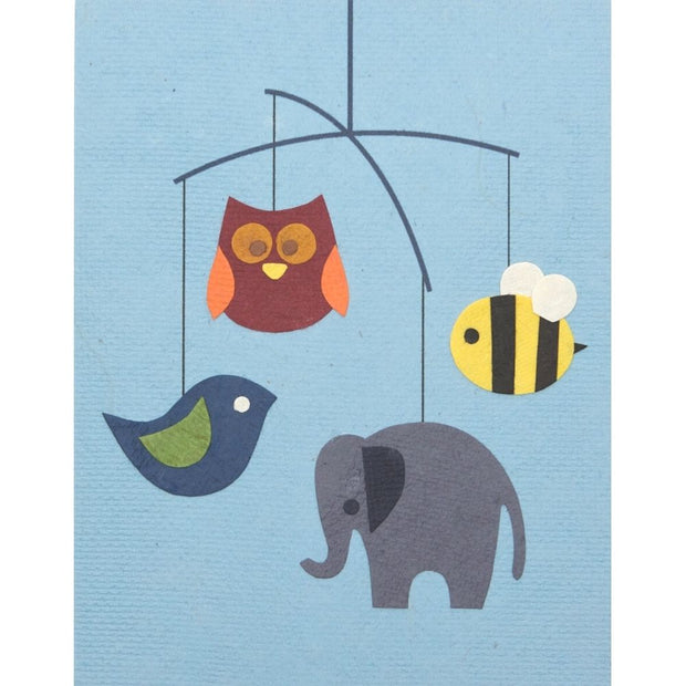 Animal Mobile Baby Card by Good Paper