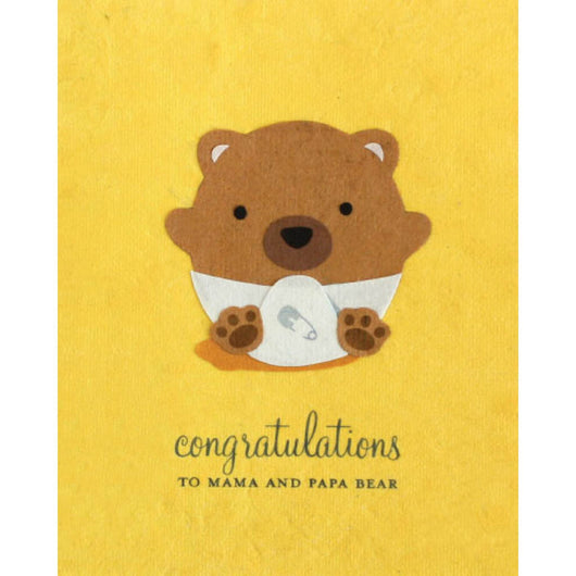 Baby Bear Congrats Card by Good Paper