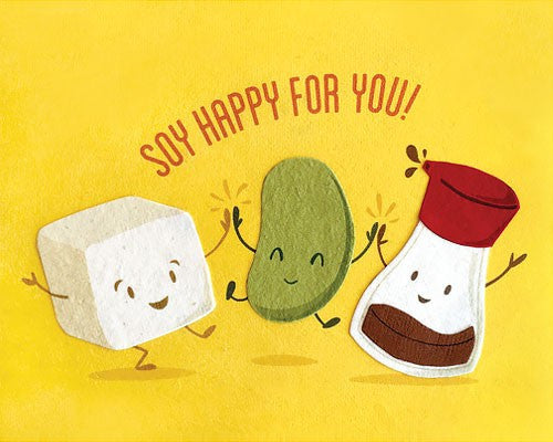 Soy Happy Congrats Card by Good Paper