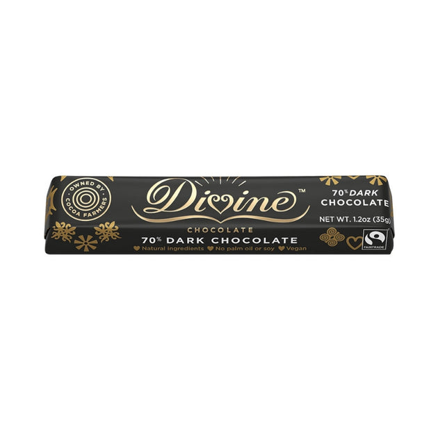 Divine 70% Dark Chocolate Small Bar 1.2oz