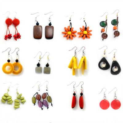 Assorted Tagua Whimsical Earrings