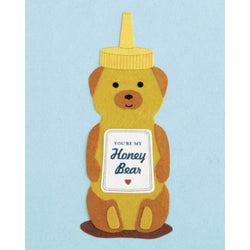 Honey Bear Love Card