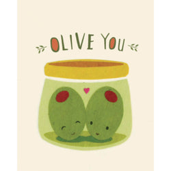 Olive You Handmade Card by Good Paper