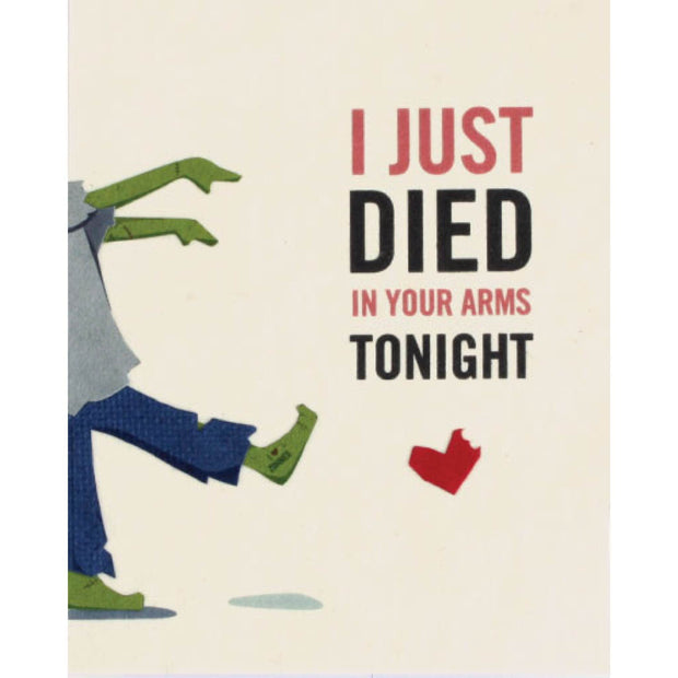 Died in Your Arms Love Card by Good Paper