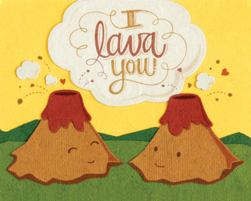 I Lava You Card by Good Paper