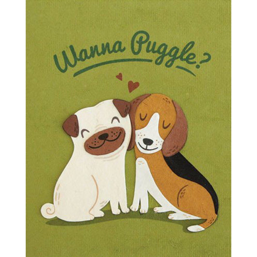 Wanna Puggle Love Card by Good Paper