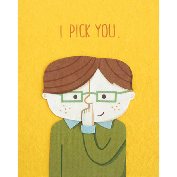 I Pick You Card by Good Paper