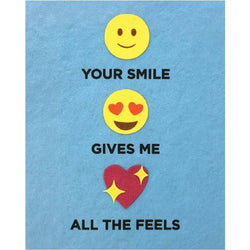 All The Feels Emoji Love Card by Good Paper