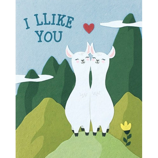 Llike You Llamas Love Card by Good Paper