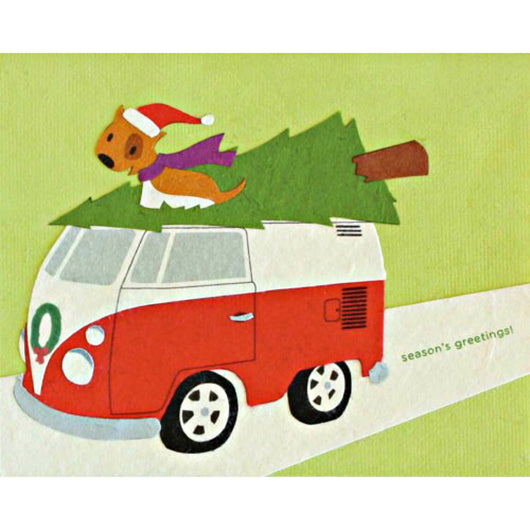 Retro Christmas Card by Good Paper