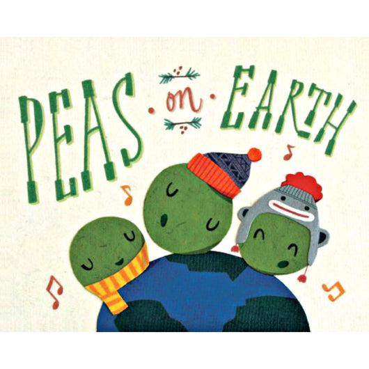 Peas on Earth Holiday Card by Good Paper