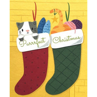 Purrrfect Kitty Christmas Card by Good Paper