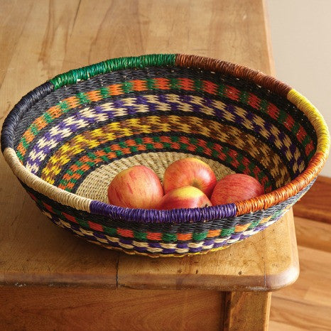 14.7-inch Anbese Fruit Basket from Ghana