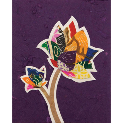 Batik Flower Greeting Card by Good Paper