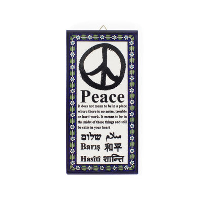 Meaning of Peace Ceramic Wall Plaque Art