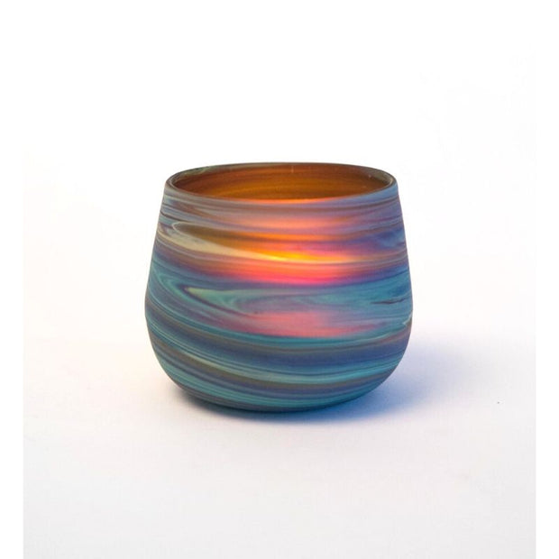 Phoenician Glass Candle Holder - Small lifestyle