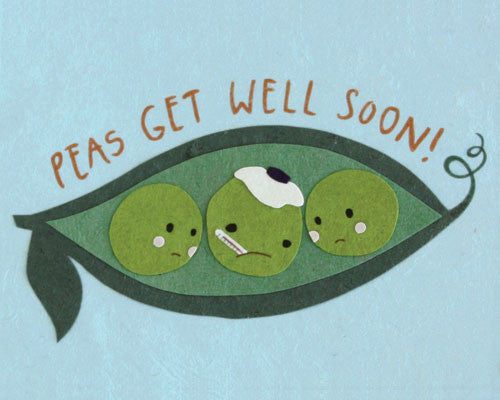 Peas Get Well Card by Good Paper