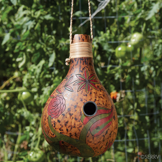 Handmade Royal Gourd Birdhouse from Cameroon