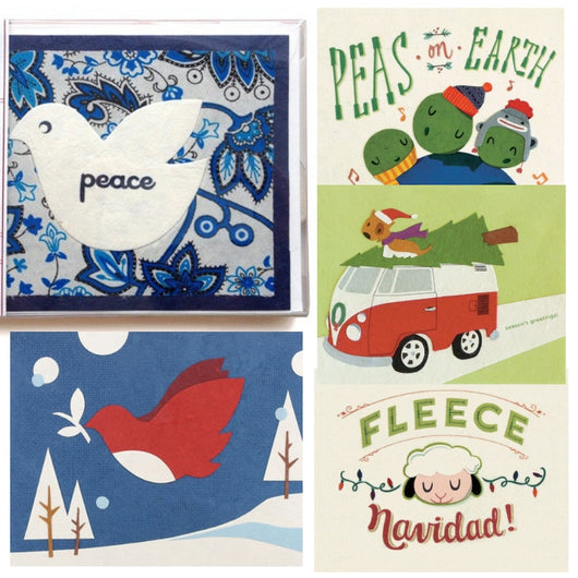 Assorted Boxed Set of Five Christmas Holiday Cards