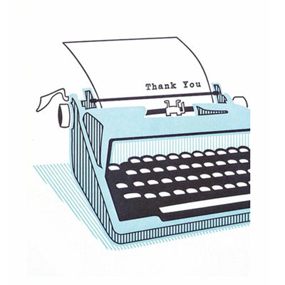 Typewriter Thank You Card by Good Paper