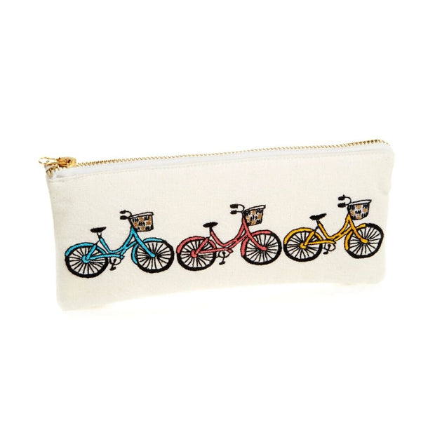 Bicycle Trio Zipper Pouch
