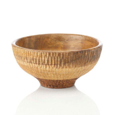 Mango Textured Wood Bowl