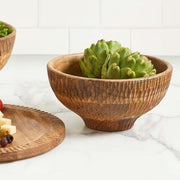 Mango Textured Wood Bowl lifestyle