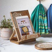 Mandala Tablet or Recipe Book Stand lifestyle
